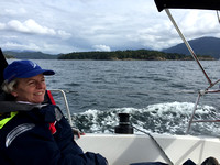 Sailing past Bowen Island