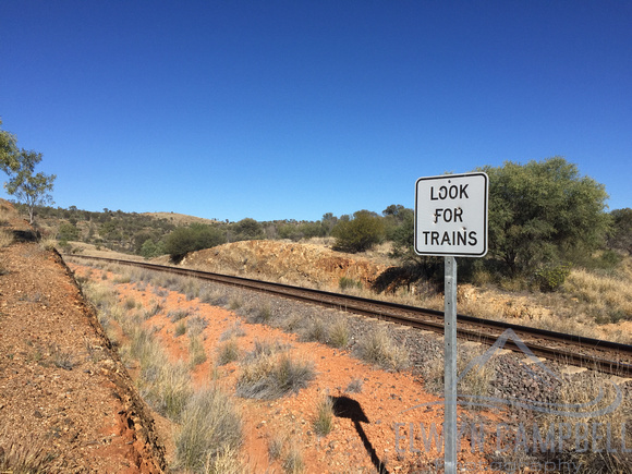 The Ghan railway track