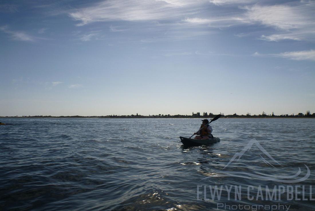 Kayking towards Penguin Island