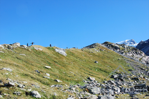 Moraine descent from Rifugio d' Ayas