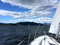Towards Bowen Island